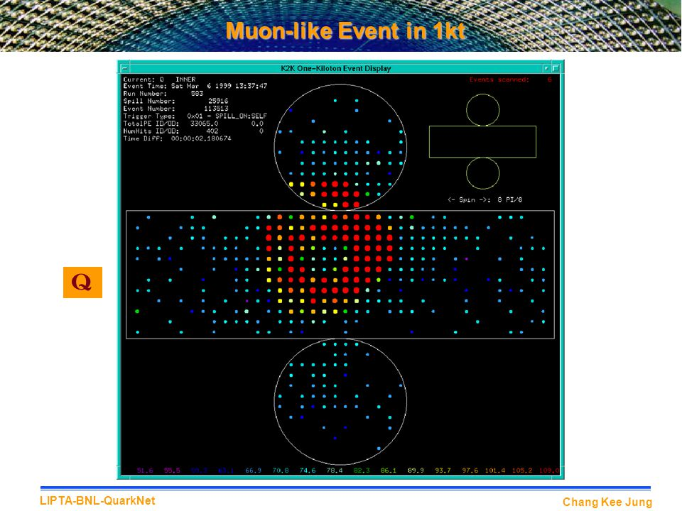 Muon-like Event in 1kt Q