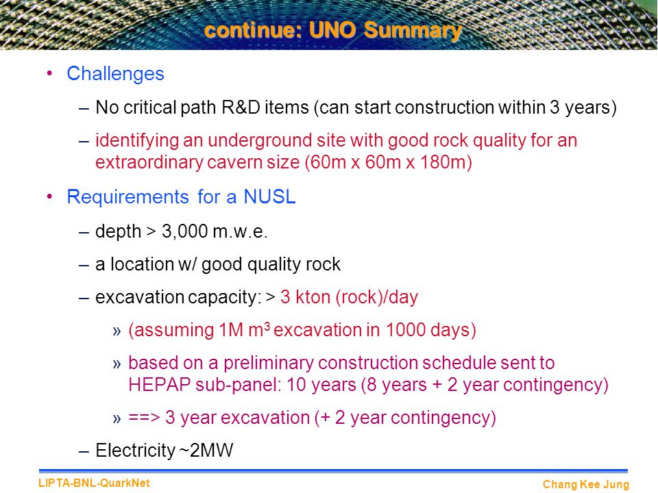 continue: UNO Summary Challenges Requirements for a NUSL