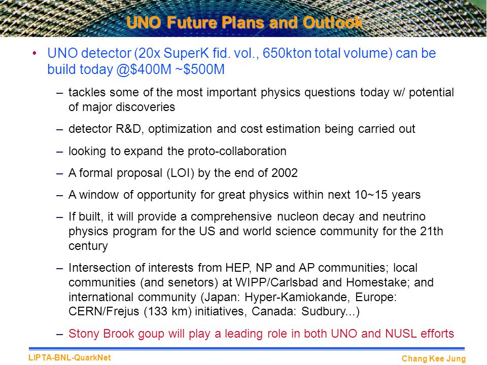 UNO Future Plans and Outlook