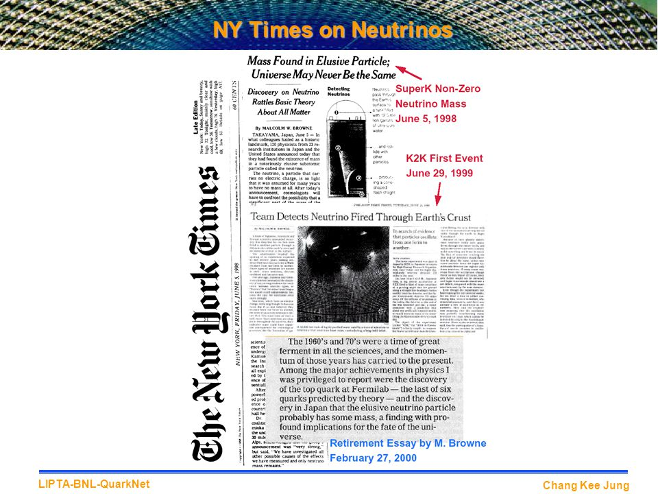 NY Times on Neutrinos