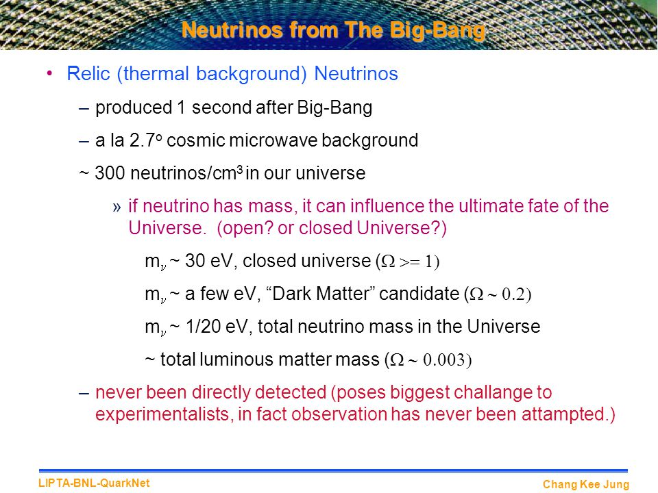 Neutrinos from The Big-Bang