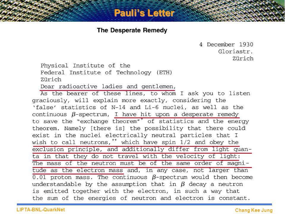 Pauli's Letter