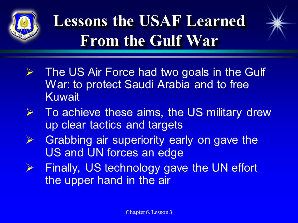 Lessons the USAF Learned From the Gulf War