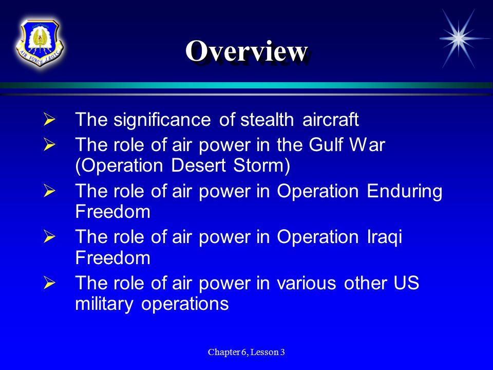 Overview The significance of stealth aircraft