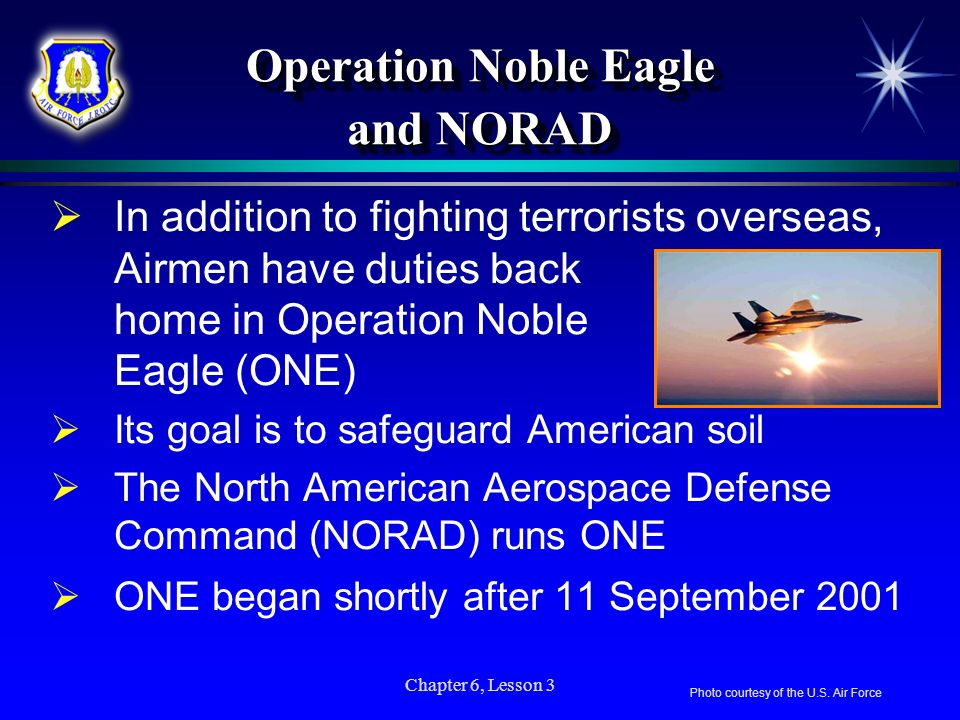 Operation Noble Eagle and NORAD