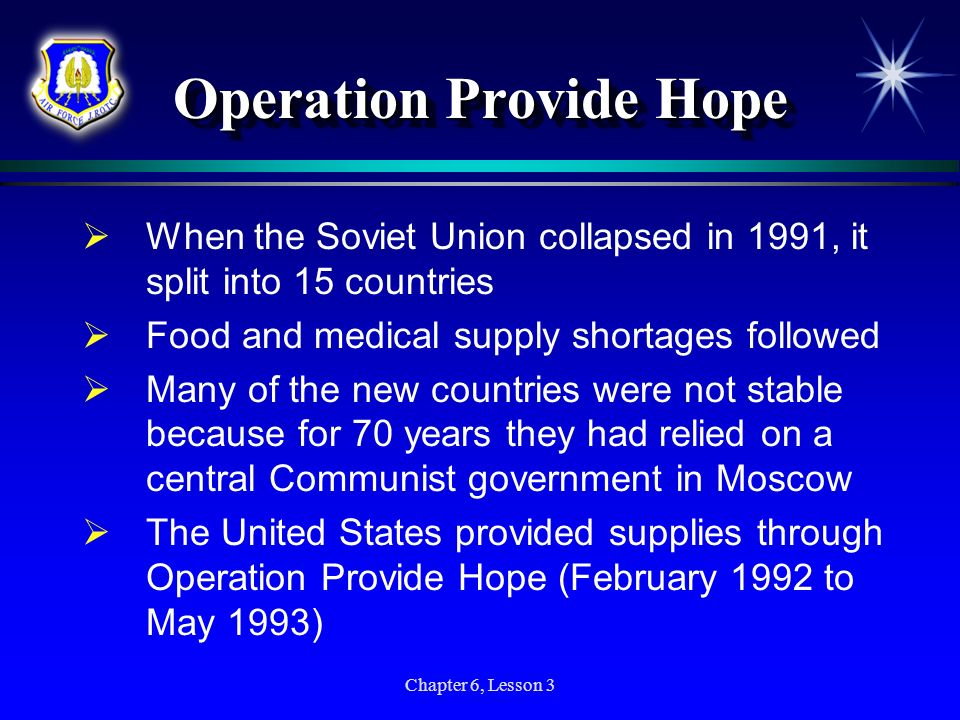 Operation Provide Hope