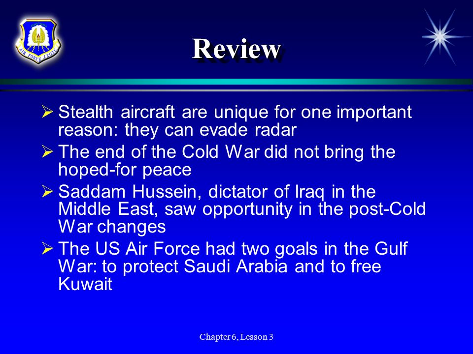 Review Stealth aircraft are unique for one important reason: they can evade radar. The end of the Cold War did not bring the hoped-for peace.