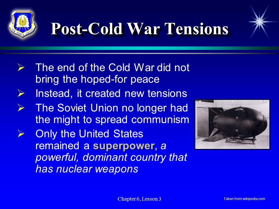 Post-Cold War Tensions