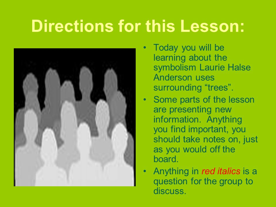 Directions for this Lesson: