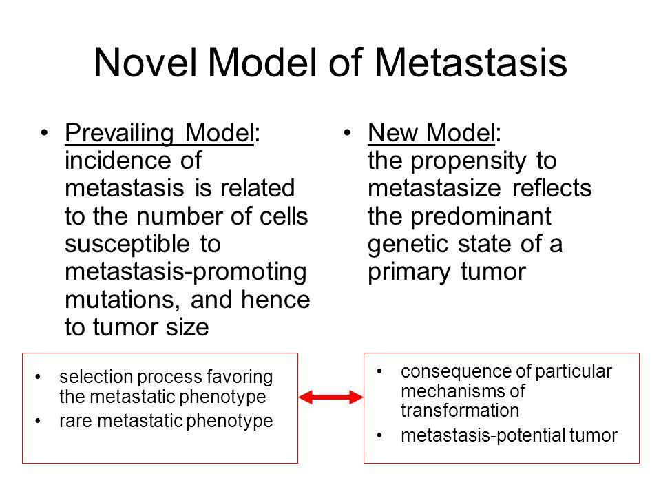 Novel Model of Metastasis