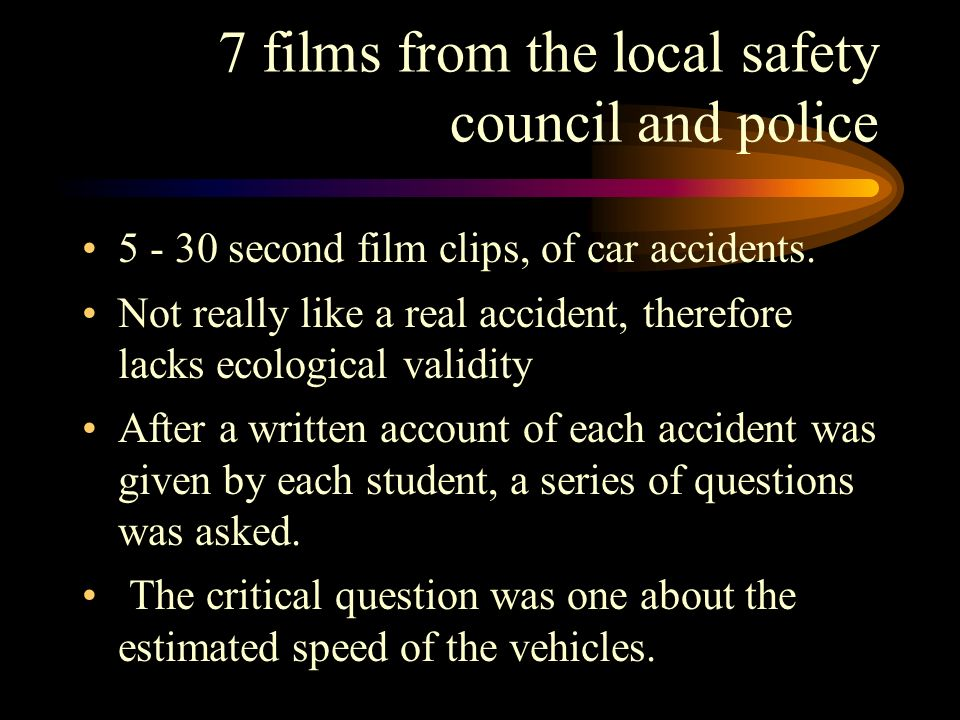 7 films from the local safety council and police