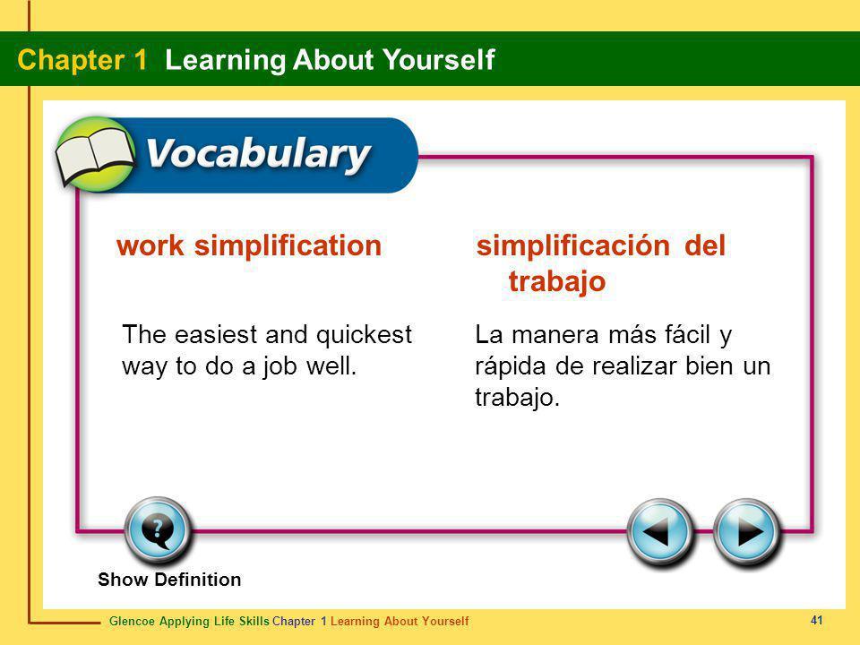 work simplification simplificación del trabajo