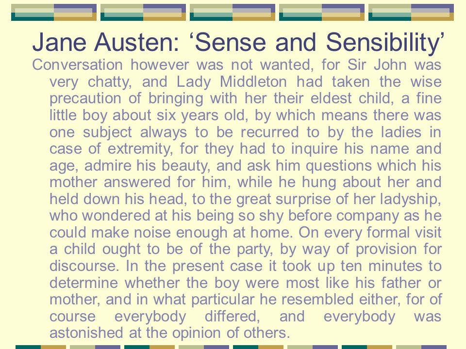 Jane Austen: 'Sense and Sensibility'
