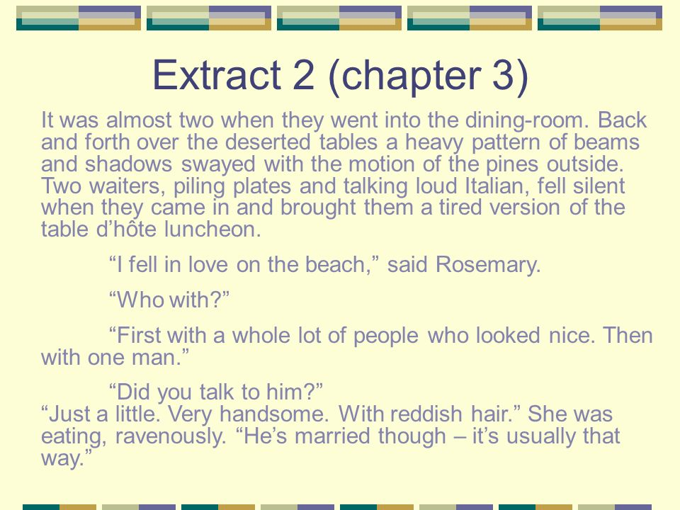 Extract 2 (chapter 3)