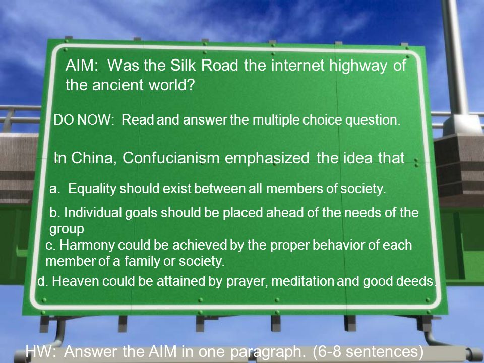 AIM: Was the Silk Road the internet highway of the ancient world