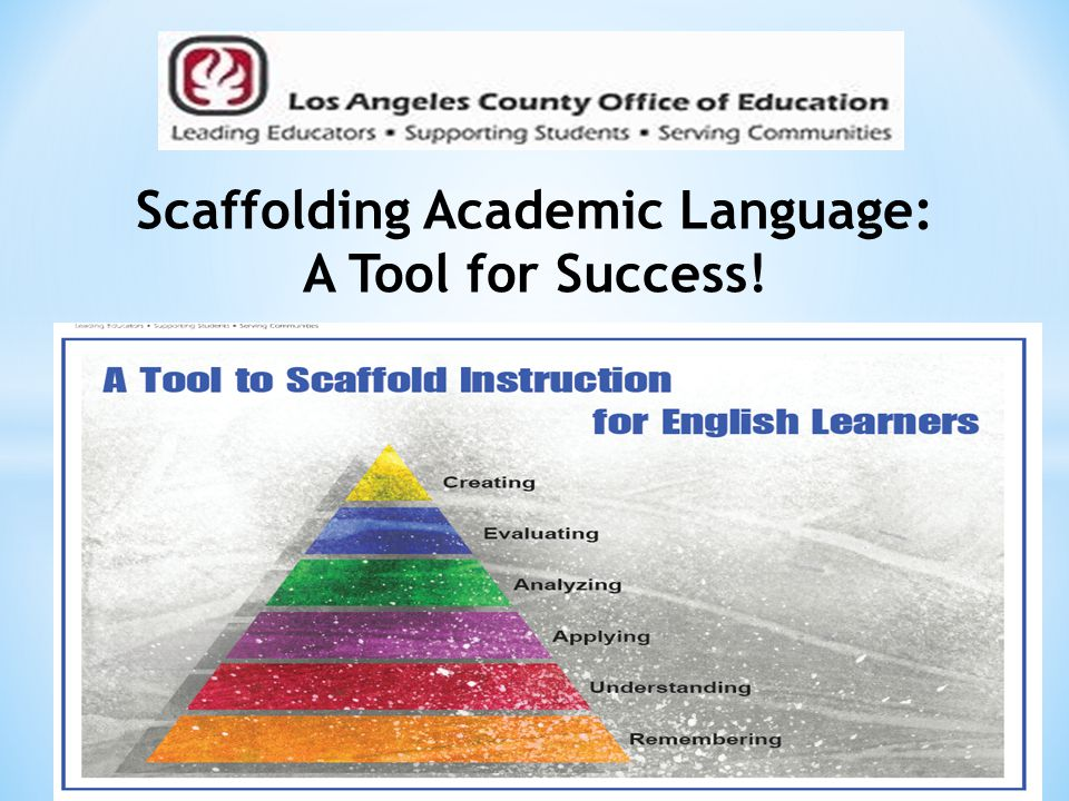Scaffolding Academic Language: A Tool for Success!