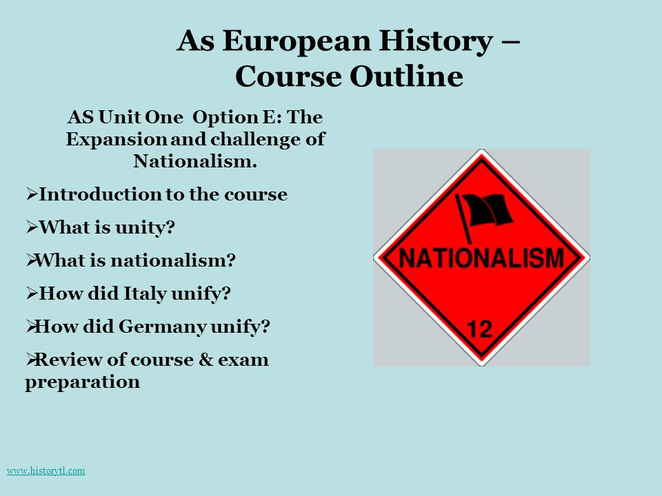 As European History – Course Outline