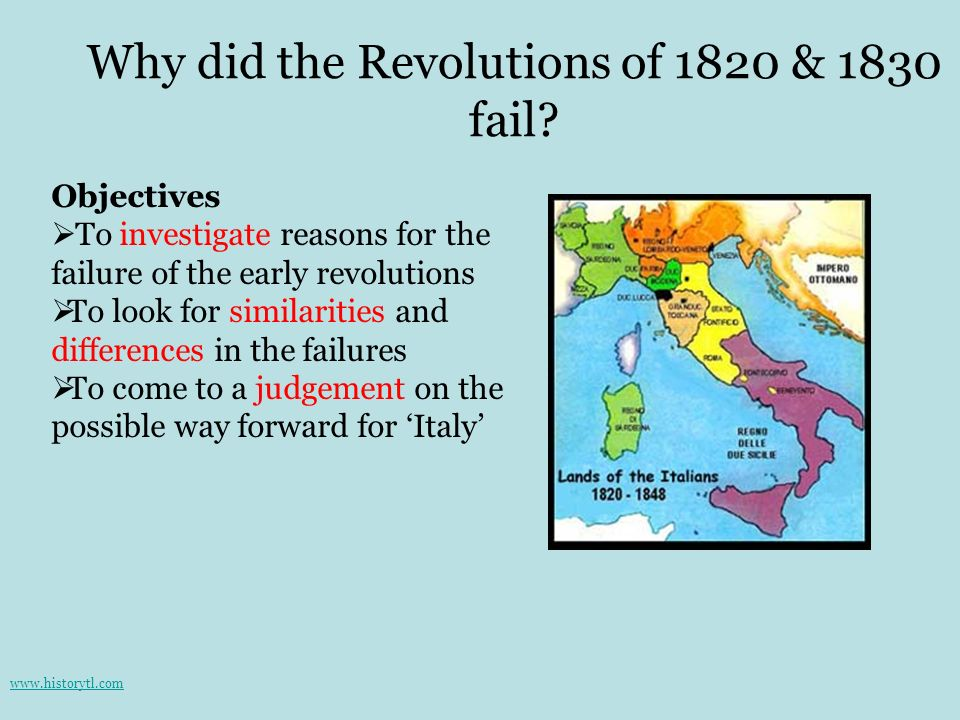 Why did the Revolutions of 1820 & 1830 fail
