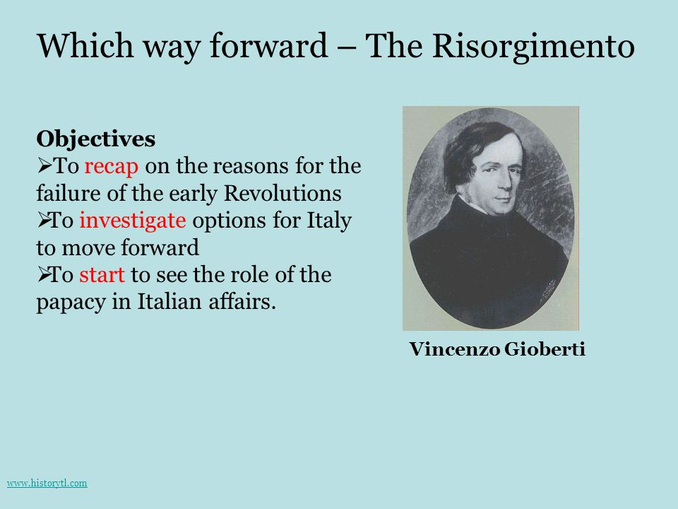 Which way forward – The Risorgimento