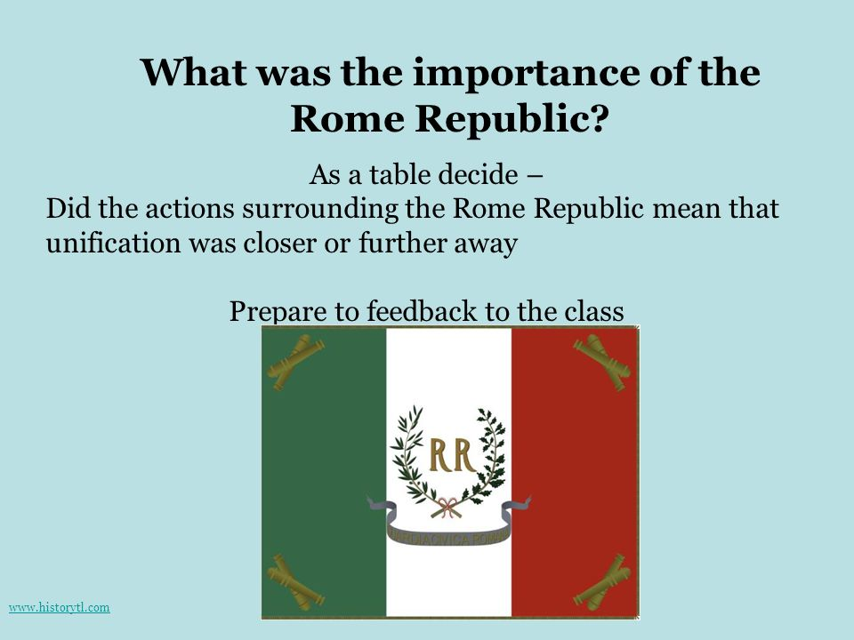 What was the importance of the Rome Republic