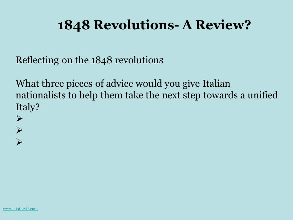1848 Revolutions- A Review Reflecting on the 1848 revolutions