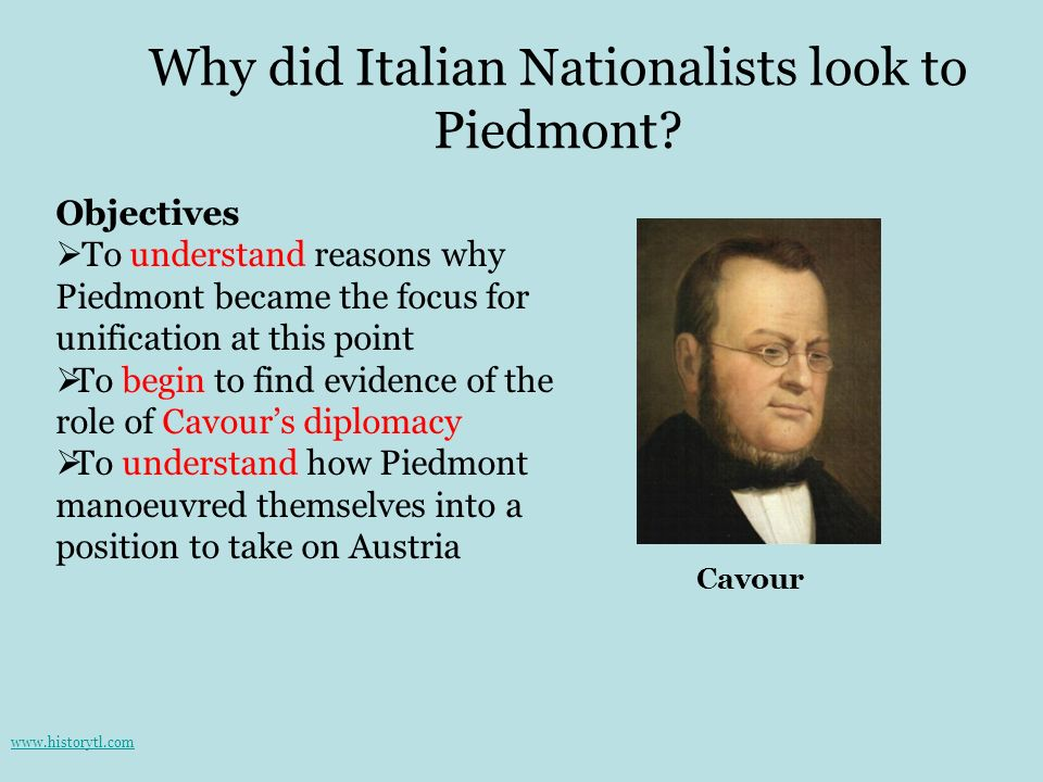 Why did Italian Nationalists look to Piedmont