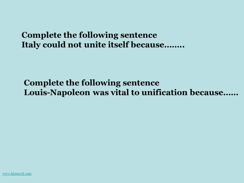 Complete the following sentence