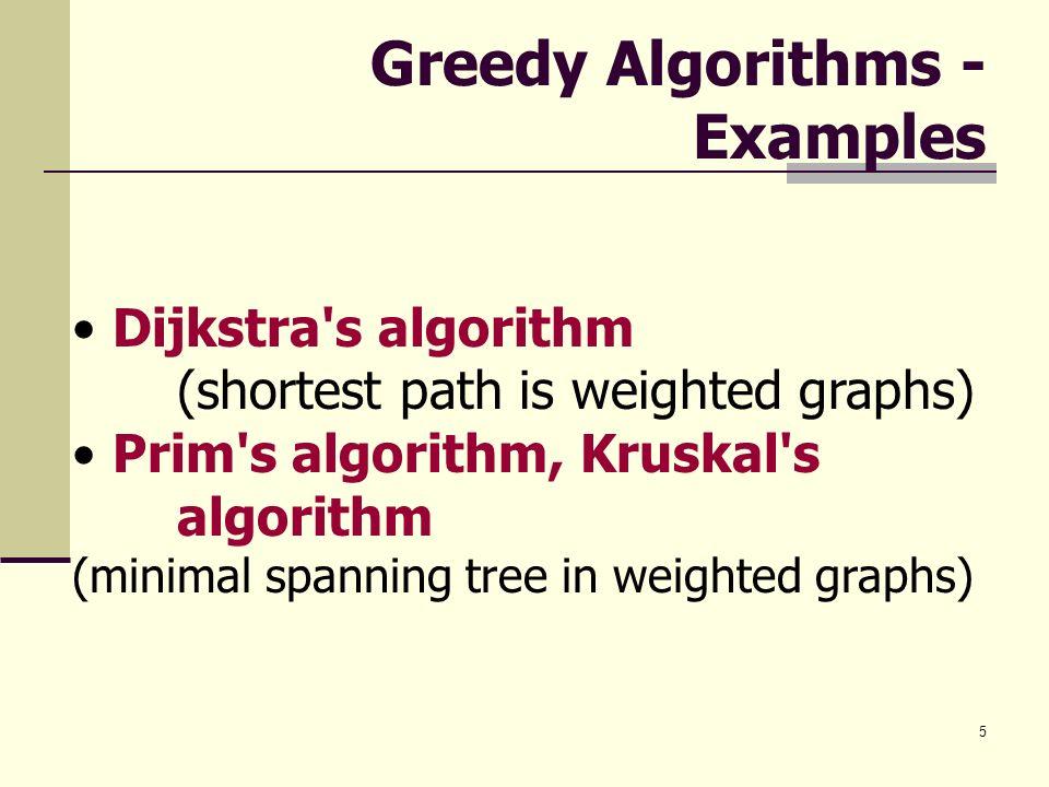 Greedy Algorithms - Examples