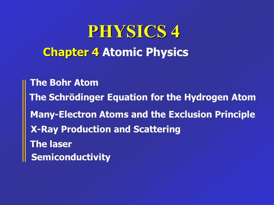 Chapter 4 Atomic Physics
