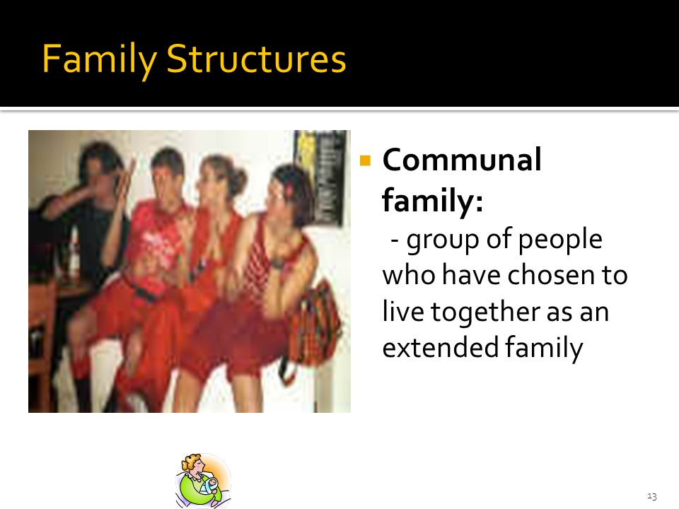 Family Structures Communal family: