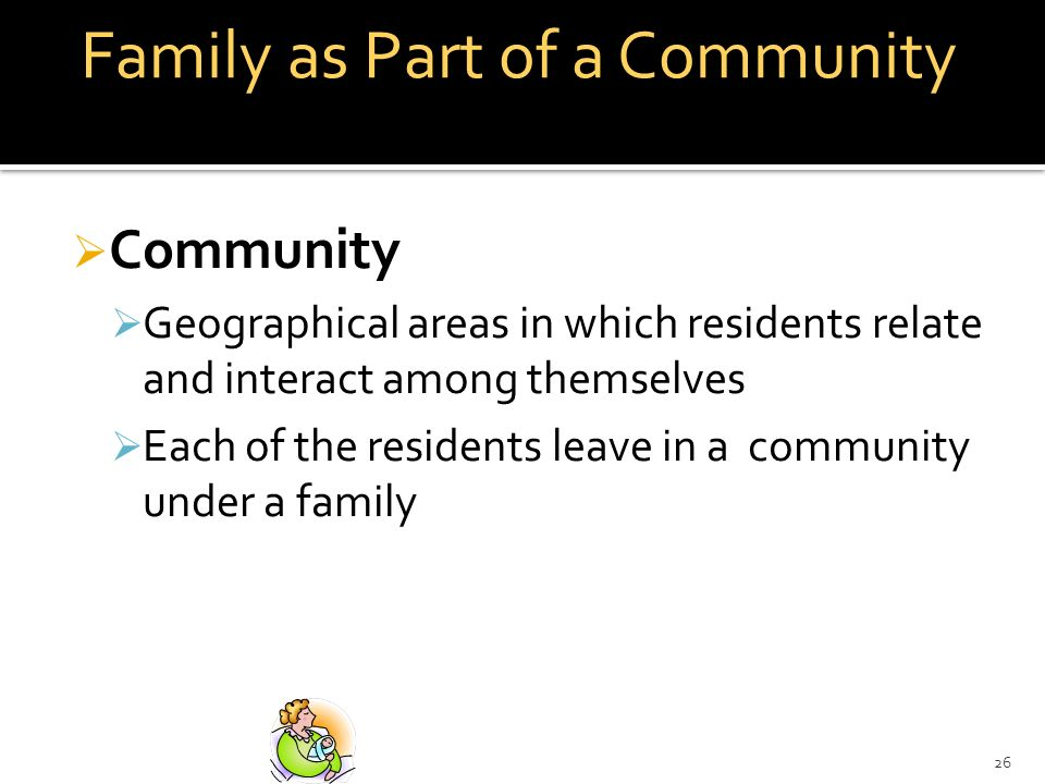 Family as Part of a Community