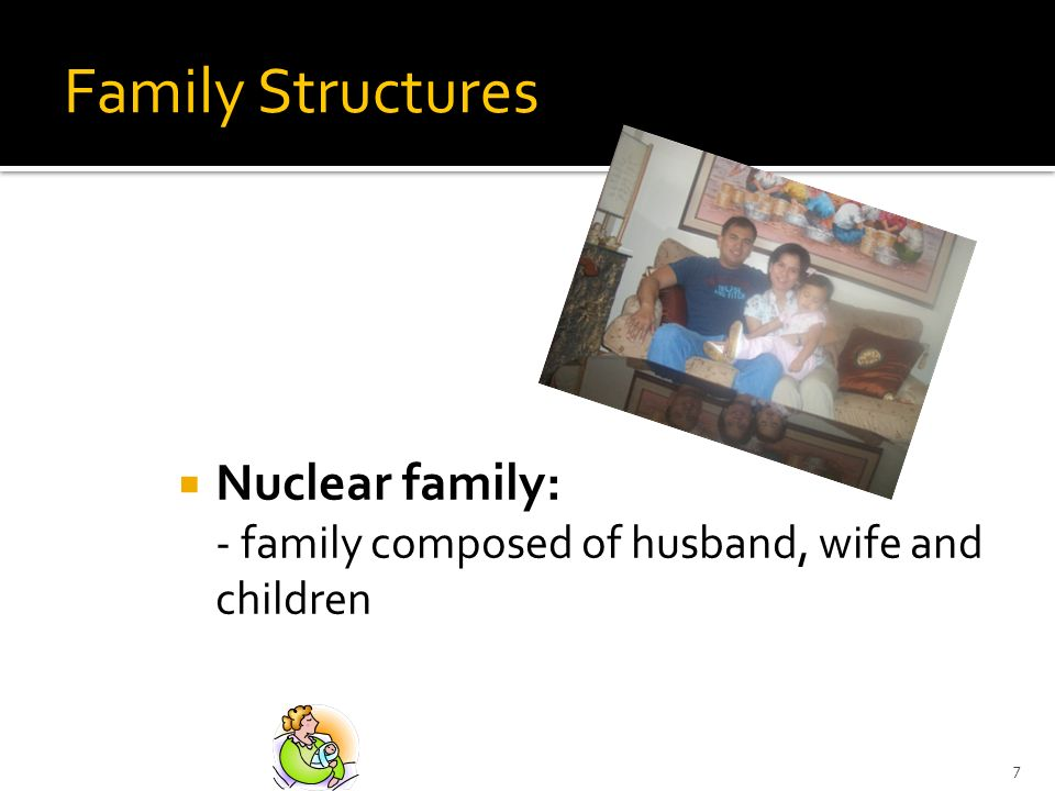 Family Structures Nuclear family: