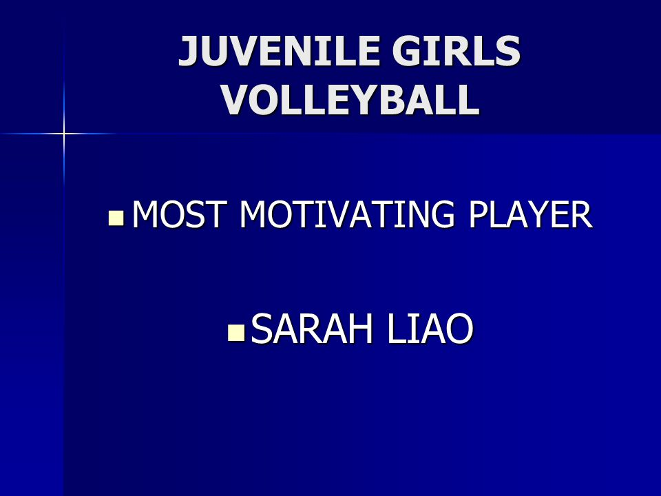 JUVENILE GIRLS VOLLEYBALL