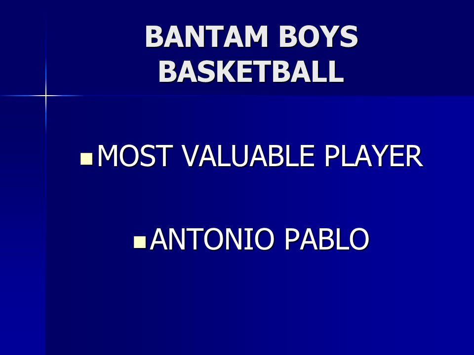 BANTAM BOYS BASKETBALL