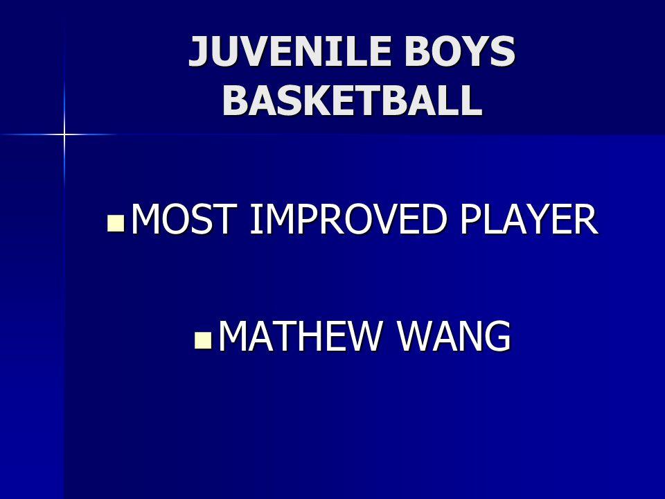 JUVENILE BOYS BASKETBALL