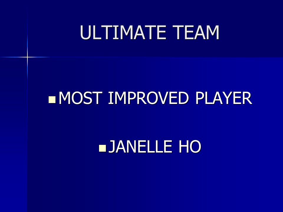 ULTIMATE TEAM MOST IMPROVED PLAYER JANELLE HO