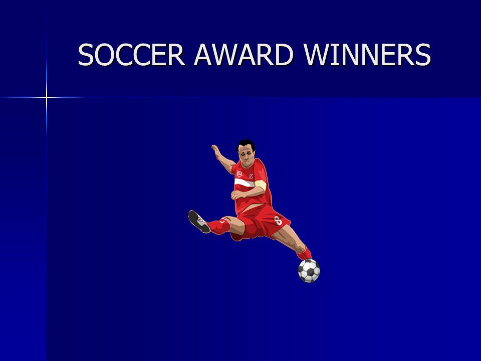 SOCCER AWARD WINNERS