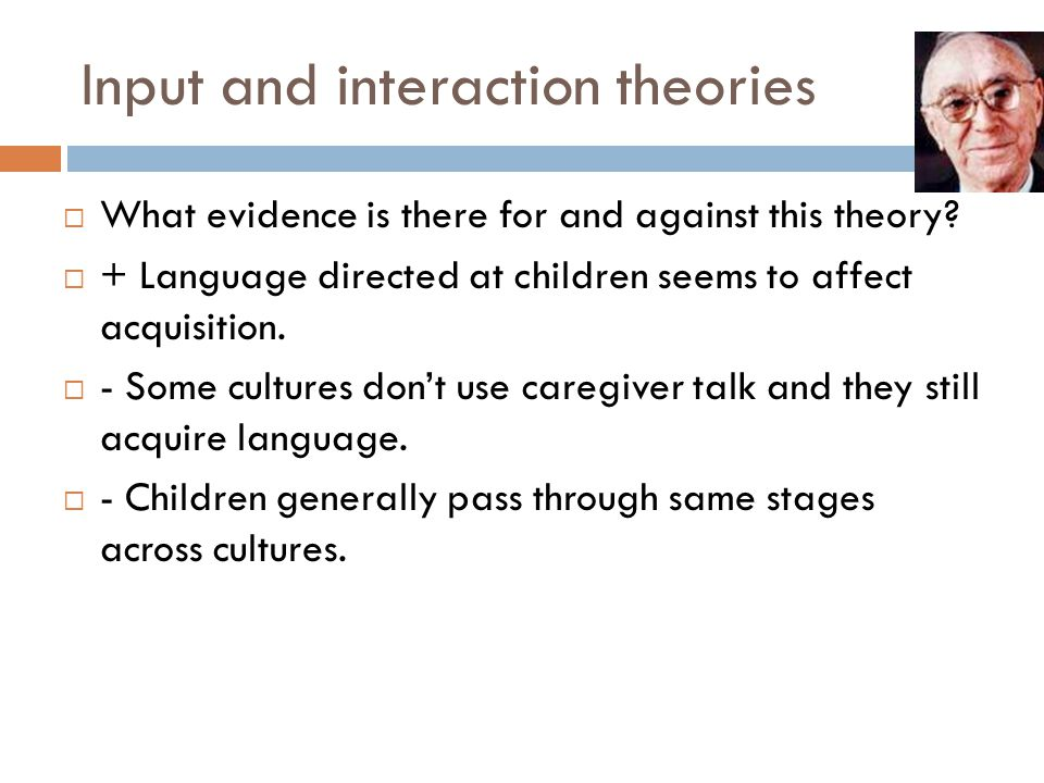 Input and interaction theories