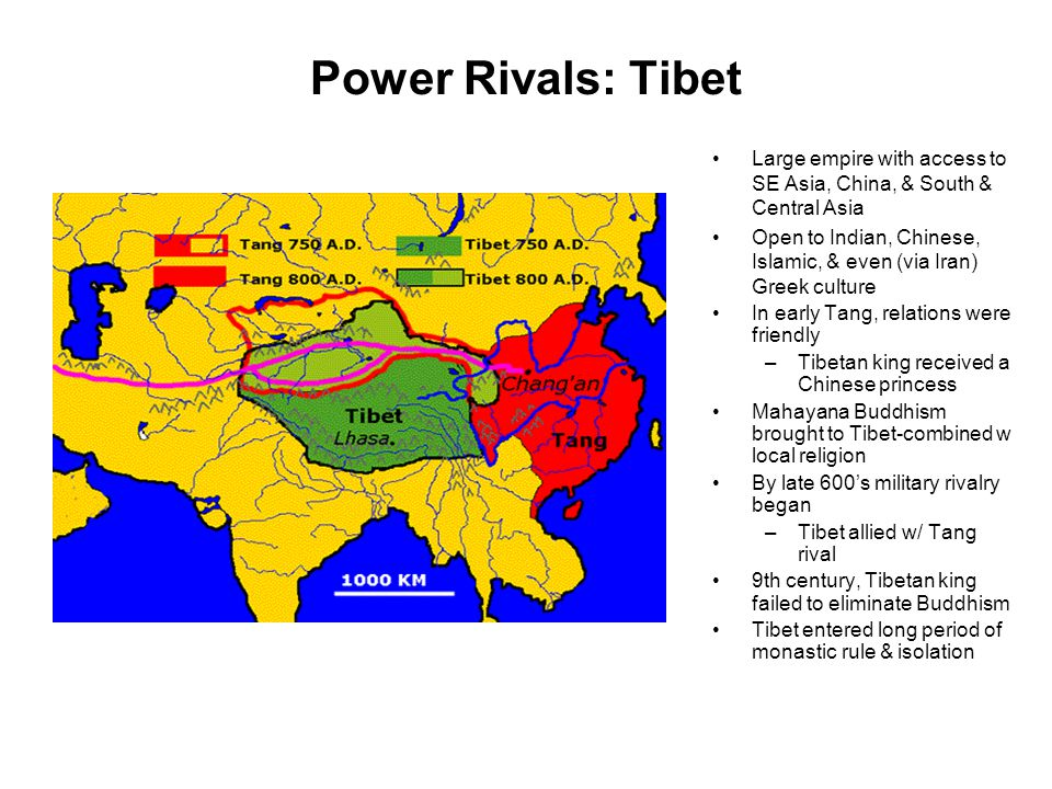 Power Rivals: Tibet Large empire with access to SE Asia, China, & South & Central Asia.