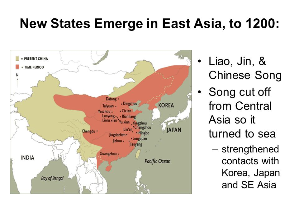 New States Emerge in East Asia, to 1200: