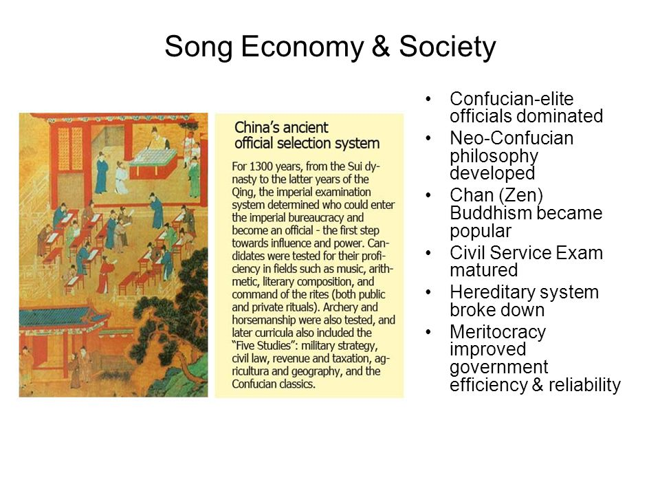 Song Economy & Society Confucian-elite officials dominated