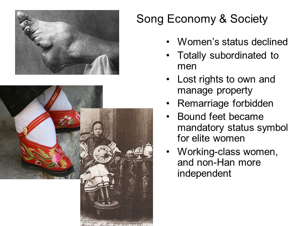 Song Economy & Society Women's status declined