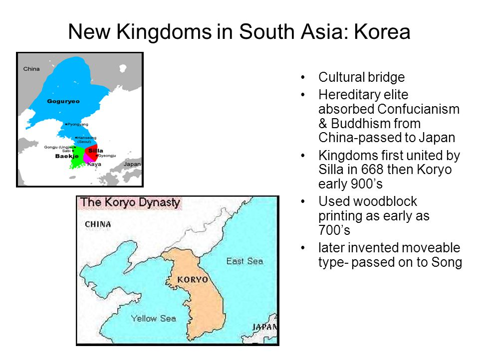 New Kingdoms in South Asia: Korea