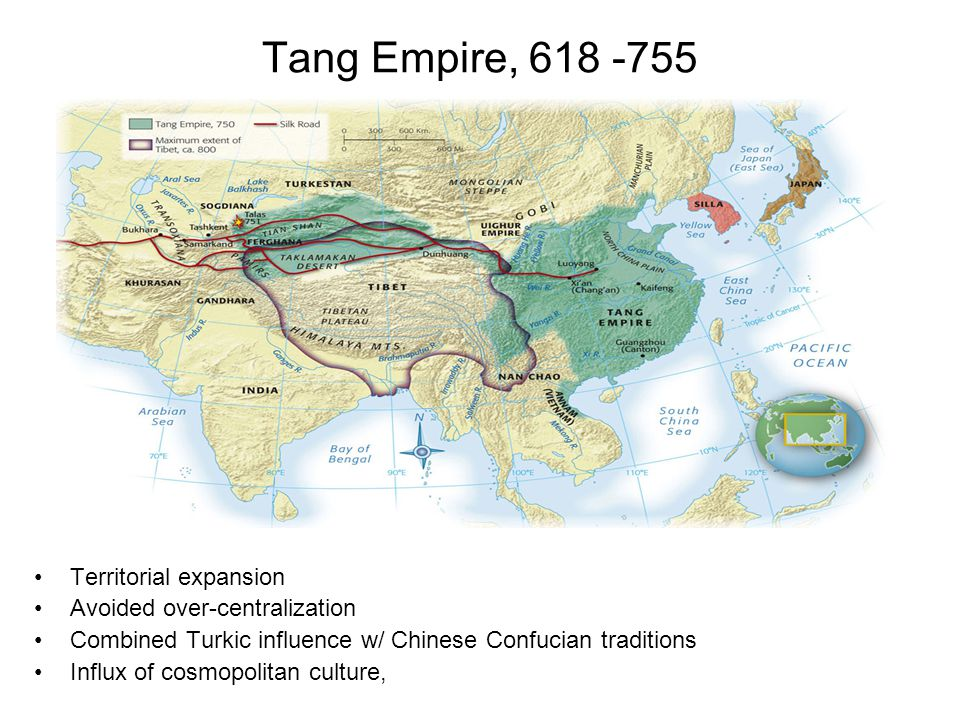 Tang Empire, 618 -755 Territorial expansion