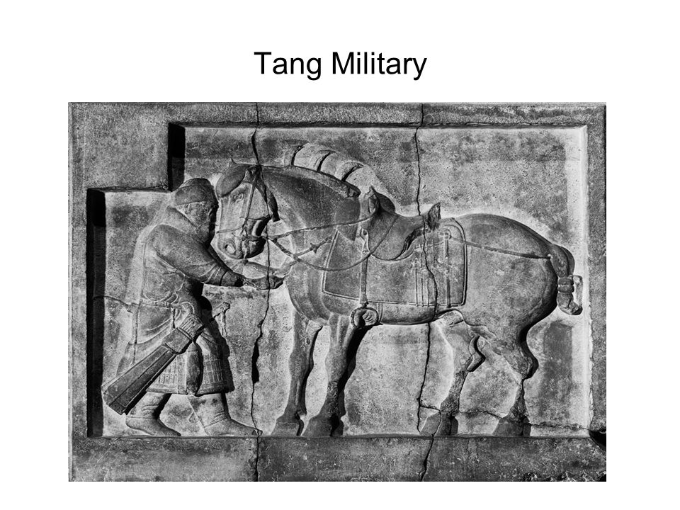 Tang Military Evidence=Saddles w/high supports, breastplates, cruppers, stirrups Analysis: So What