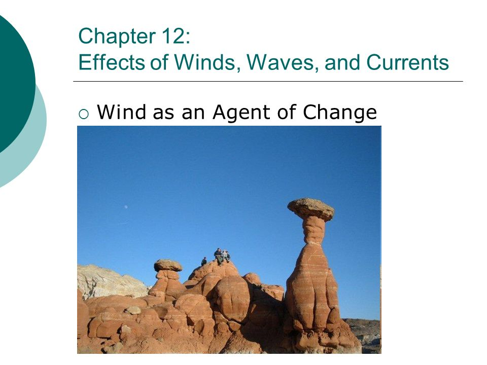 Chapter 12: Effects of Winds, Waves, and Currents