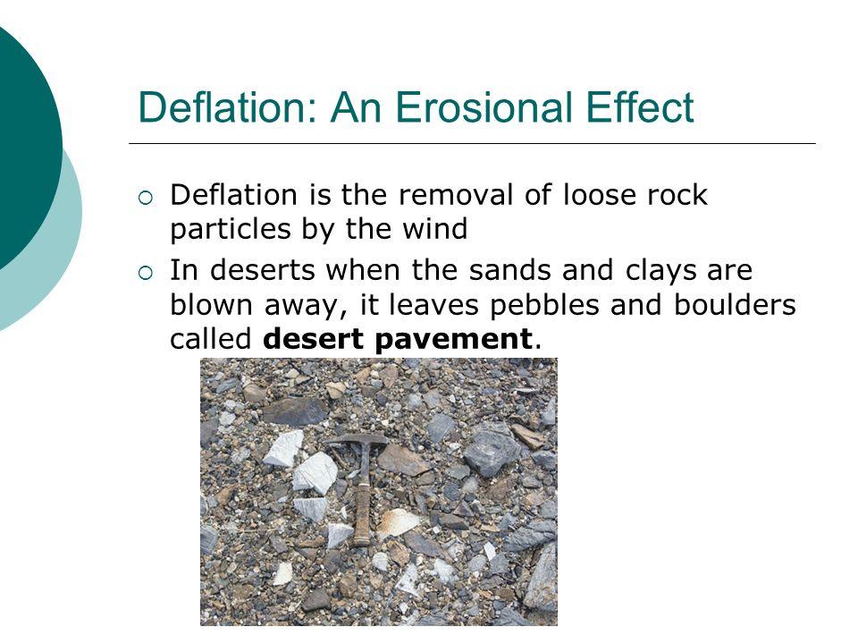 Deflation: An Erosional Effect