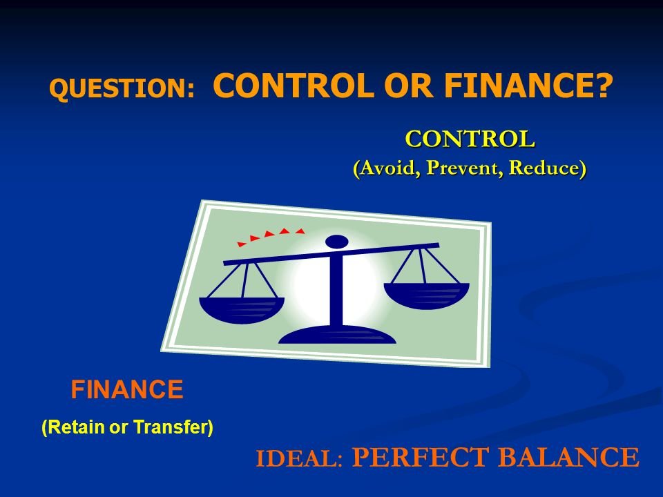 CONTROL (Avoid, Prevent, Reduce)