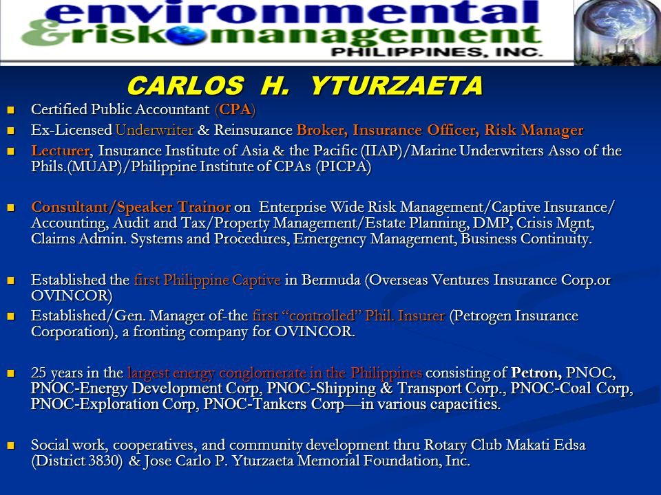 CARLOS H. YTURZAETA Certified Public Accountant (CPA)