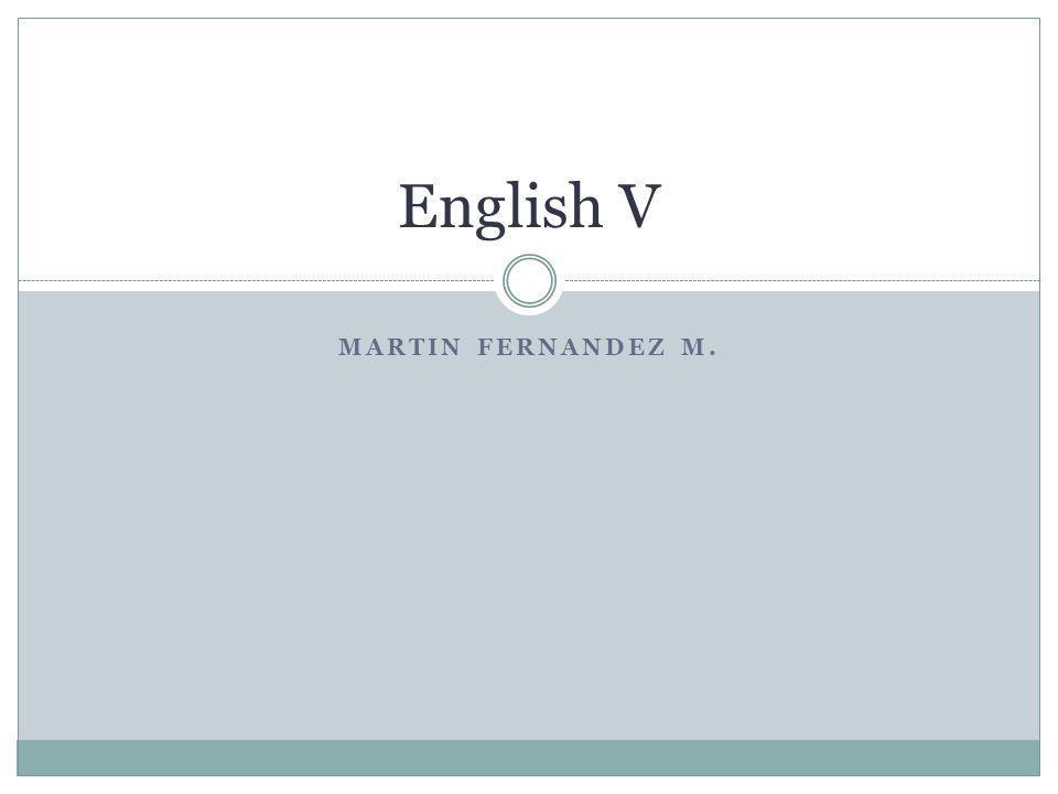 English V Martin Fernandez M.